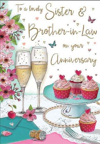 To A Lovely Sister & Brother-In-Law On Your Anniversary